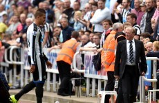 Newcastle's €17.8m signing consolidates bad-boy reputation with straight red card