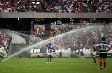 The Olympic Stadium sprinklers put a serious dampener on Samoa v Barbarians