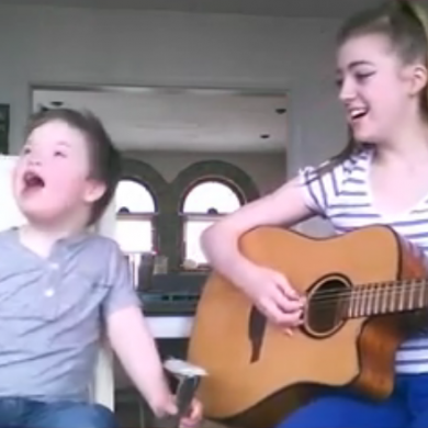 An Irish girl's sweet duet with her little brother is going super viral on Facebook