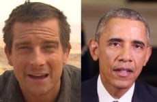 We're not taking the drinkable p**s: Barack Obama is doing a survival show with Bear Grylls