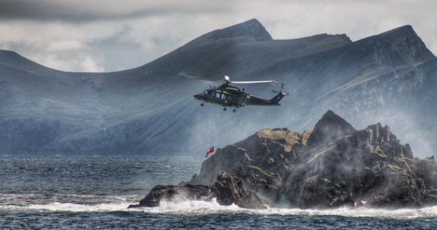 The Mayo coastline looks incredible in this LÉ Orla photo