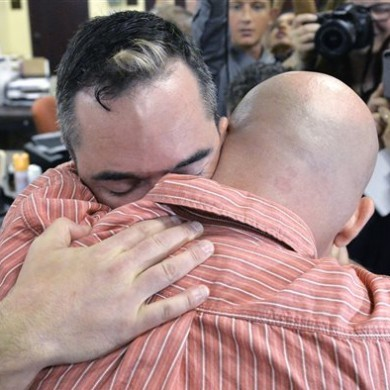 Gay couples get marriage licences after clerk is jailed