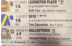 Golf fans will appreciate the spooky coincidence in the 3.10 at Haydock today
