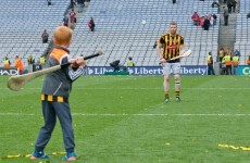 Back from knee surgery for All-Ireland winning puck around with his son