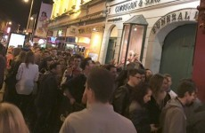 This was the queue for Flannery's on Saturday night