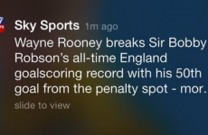 Rooney nets 50th goal, Sky Sports get Bobbys Robson and Charlton mixed up