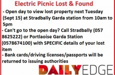 Lose something at Electric Picnic? Here's how you can get it back