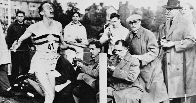 The spikes Sir Roger Bannister wore during his record-breaking run have sold for big money