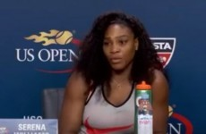 A reporter asked Serena Williams why she wasn't smiling… and she was having none of it