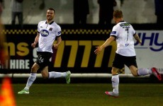 A Dundalk player gave his best Zlatan impression in their 4-0 win over Sligo tonight