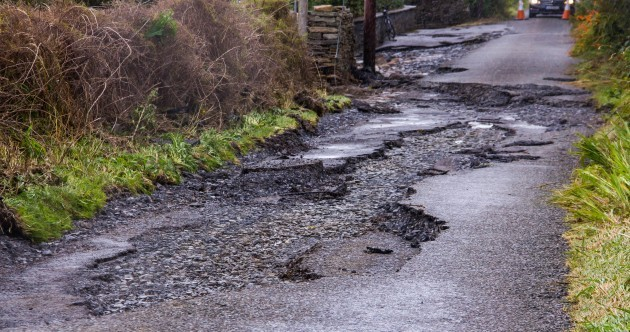 Flooding across the country causes road damage and closures