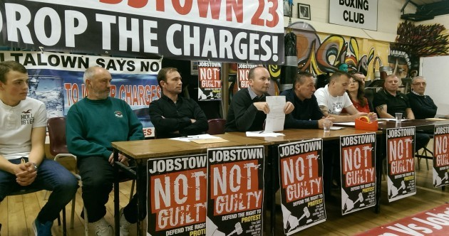 """Our backs are against the wall, we're coming out fighting"": Jobstown protesters push back"