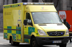 Two wheels fell off an ambulance that had a patient on board