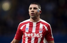 Jon Walters' goal wasn't enough for Stoke to beat high flying Leicester today
