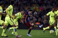 Leo Messi scored a peno and missed one but Barca's win sees them top La Liga