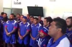 'Humbling' moment as Samoa squad sing hymn for terminally ill Joost van der Westhuizen