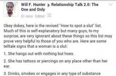 Are you a slut? Maybe this useful list can help you decide