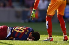 Big blow for Barca as Lionel Messi ruled out for up to two months with knee injury