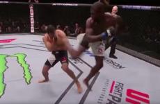 This TKO won the $50k Performance of the Night bonus at UFC Japan
