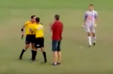 Brazilian referee takes the law into his own hands by pulling out a gun during red card dispute