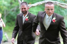 A father halted a wedding so the bride's stepdad could help him walk her down the aisle