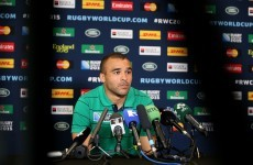 Ireland players rally around Zebo as Munster star returns after tough week