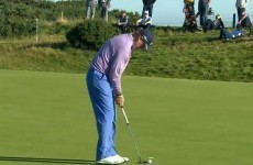 Ernie Els may have hit the worst putt of all time today