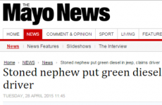 The Mayo News has made good on this missed pun opportunity