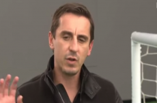 How does Gary Neville see Sunday's Arsenal-Man United game panning out?