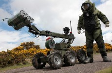 Army carry out controlled explosion on War of Independence style hand grenade