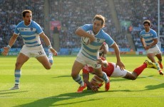 Argentina have one foot in the quarters after bonus point win against Tonga