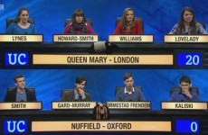 Everyone lost it over this contestant's unusual degree on last night's University Challenge