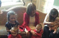 Election fever: Enda's teasing everyone and Joan's holding babies