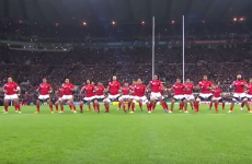 Tonga and New Zealand's war dances were pretty intimidating this evening