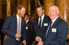 Eoin Reddan and Jamie Heaslip represent Ireland at World Cup reception with the Queen