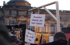 Outrage after 'noose for Angela Merkel' displayed at anti-refugee rally