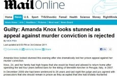 Wrong-footed newspaper sites accidentally publish 'Knox is guilty' stories
