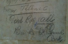 Letter in a bottle from Titanic victim goes on display