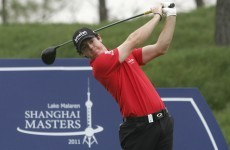 Rory does his talking on the course as he's out on his own in Shanghai
