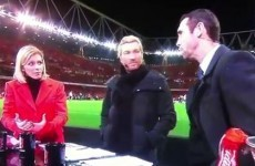 Who wants to see Martin Keown get hit in the head with a football?