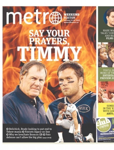 The Boston Metro's Tebow-baiting front page is a work of art