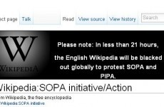 Wikipedia joins 'internet blackout' protest against SOPA