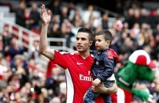 You're kidding: Arsenal move for RVP's 5-year-old son