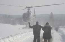 Helicopters evacuate Eastern Europeans stranded in cold snap