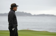 In the swing: Lefty looking right on form again