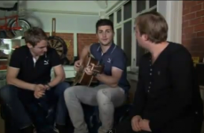 Not for Trap's eyes: Shane Long gets the guitar out