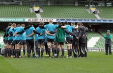 As you were: Ireland unchanged for Paris return