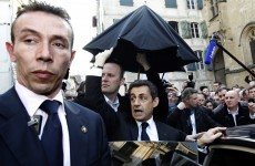 In pictures, video: Sarkozy seeks refuge from booing crowd
