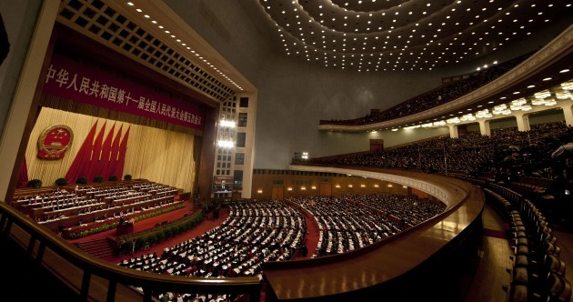 Chinese premier opens annual congress with warnings about economic growth
