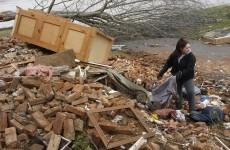 Toddler found alive in field after tornado dies